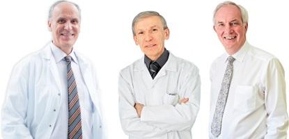 Prof. Steyaert, Prof. de Meyer et Prof. Bruyninx